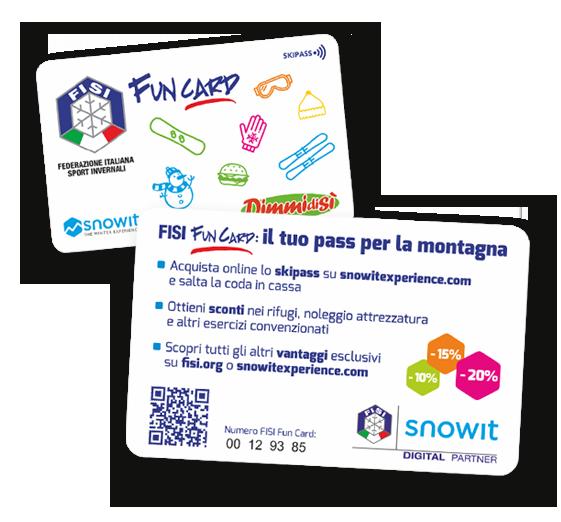 DimmidiSì sponsor della FISI Fun Card – Una sponsorship di grandissima visibilità