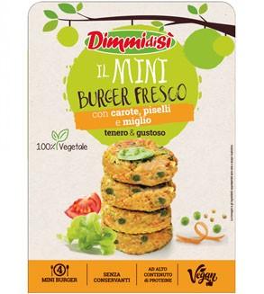 Grazie a DimmidiSì il banco frigo dell'ortofrutta continua a crescere: in arrivo i nuovi burger e miniburger 100% vegetali