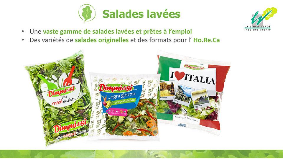 salades lavées