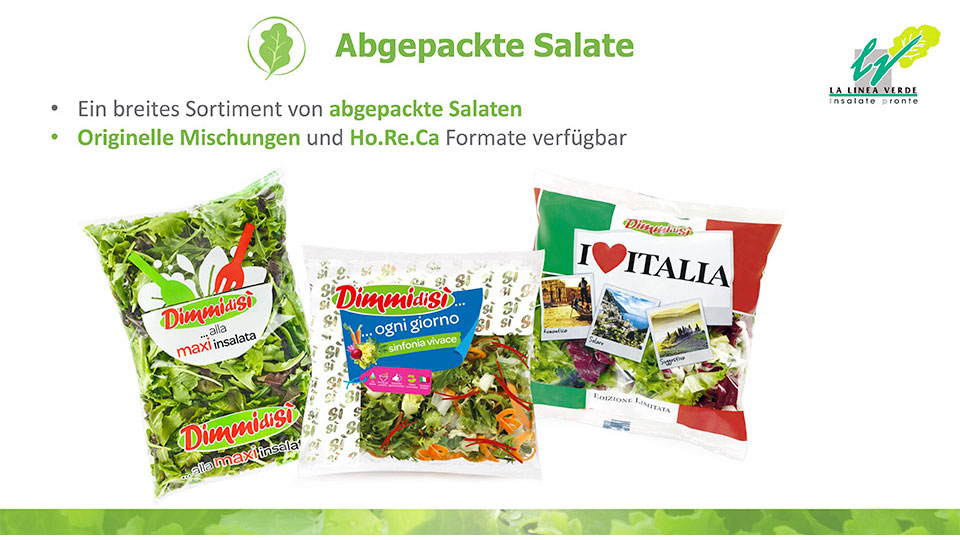 abgepackte salate La linea verde