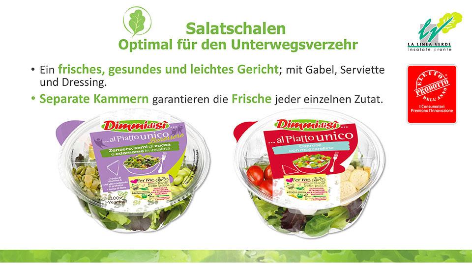 salatsschalen optimal für den unterwegsverzehr La linea verde