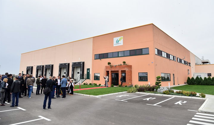 "The Minister of Agriculture visits the Serbian production site of the group ""La Linea Verde"""