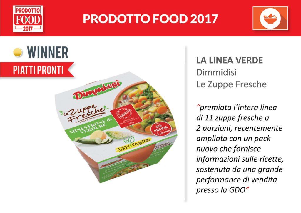 DimmidiSì le Zuppe Fresche vincono il premio della testata FOOD