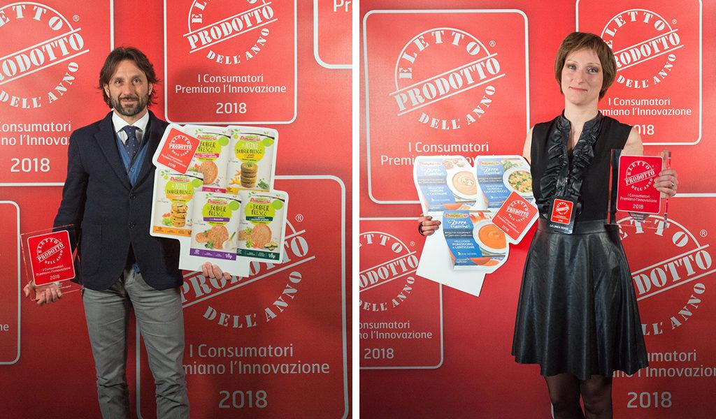 DimmidiSì fa il bis: Zuppe Fresche Gourmet e Burger Freschi vegetali Eletti Prodotti dell'Anno 2018