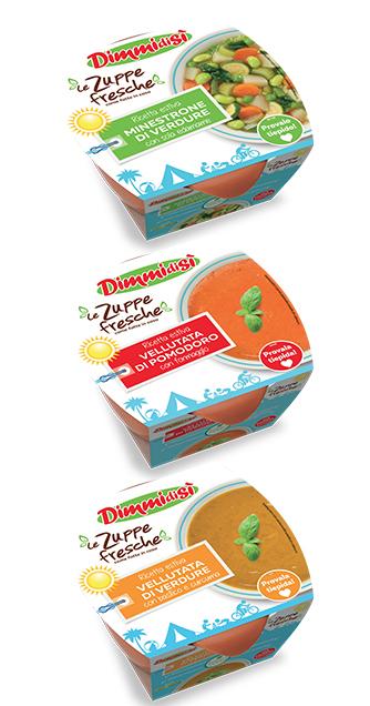 Le Zuppe Fresche DimmidiSì cavalcano i consumi estivi con ricette dedicate