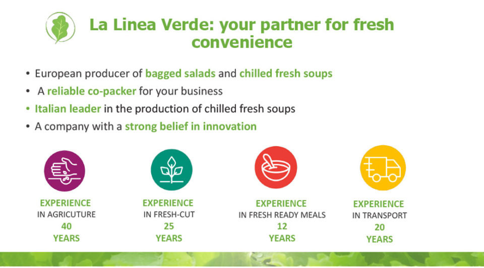 La linea Verde: your partner for fresh convienience