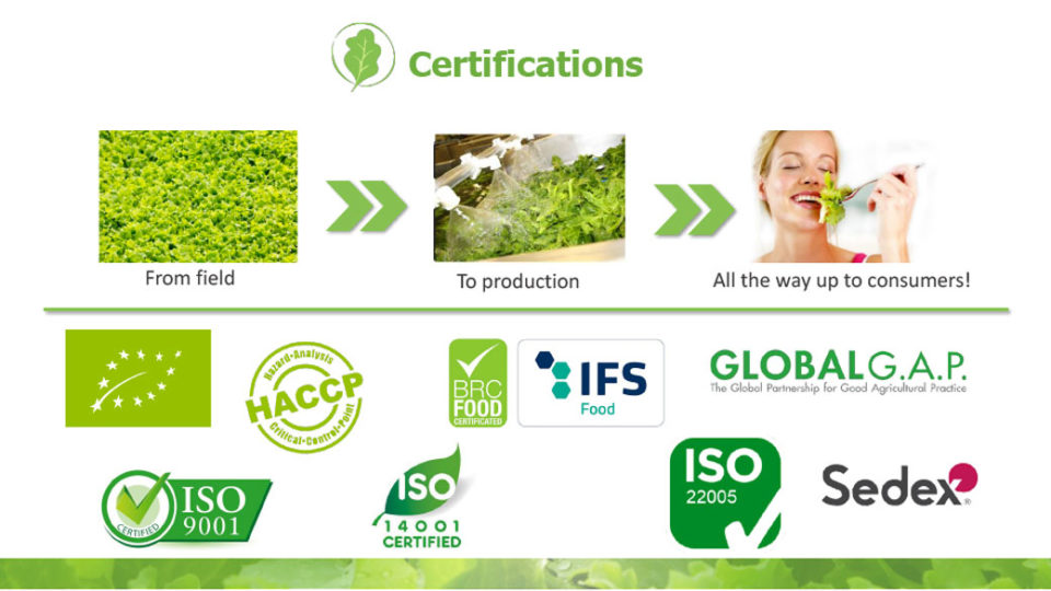 Certifications La linea verde