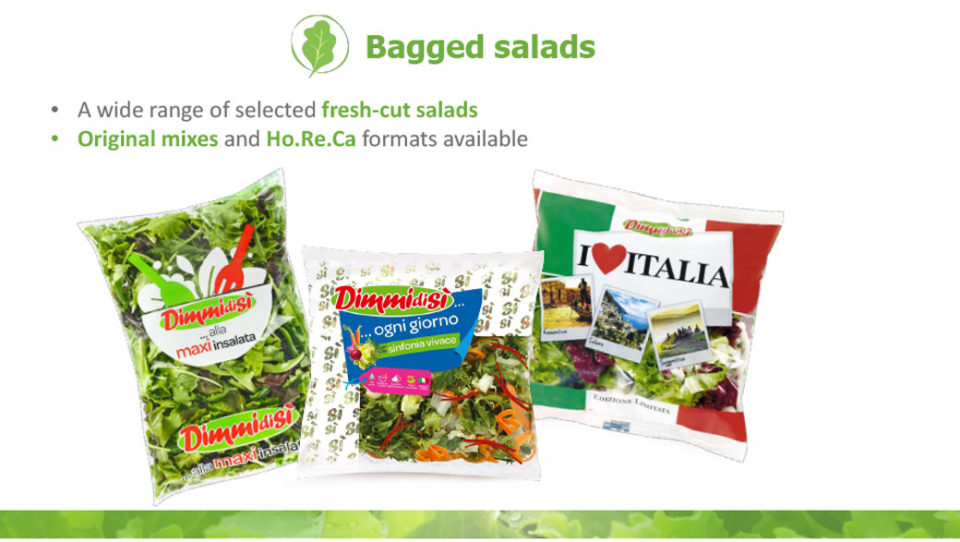bagged salads La linea verde