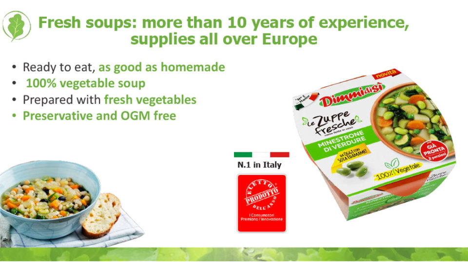 Fresh soups La linea verde