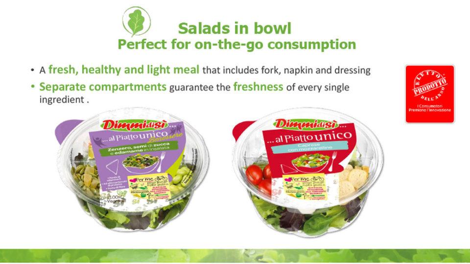 Salad in bowl La linea verde