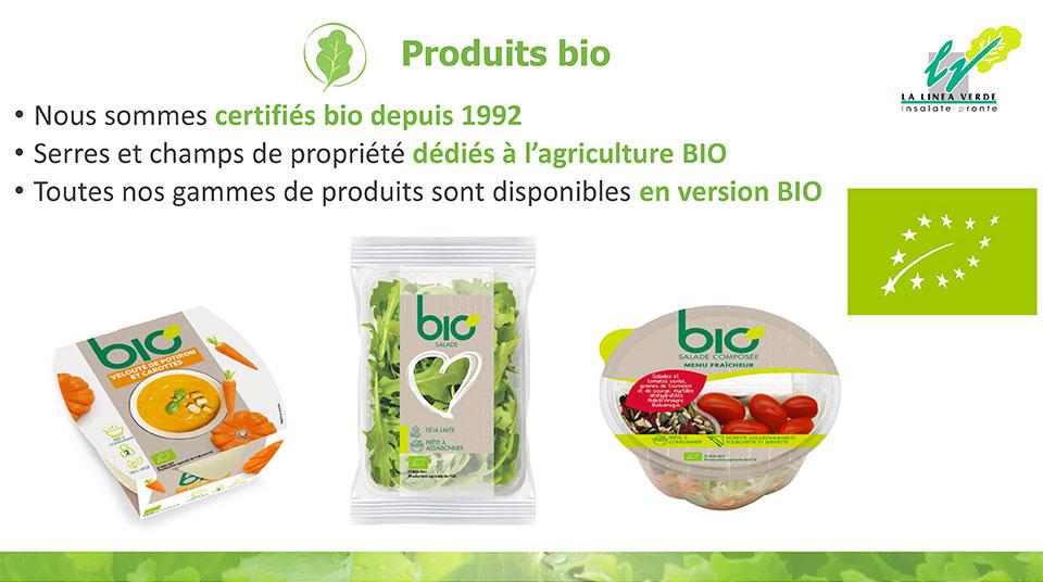 Materie prime la linea verde prodotti Bio