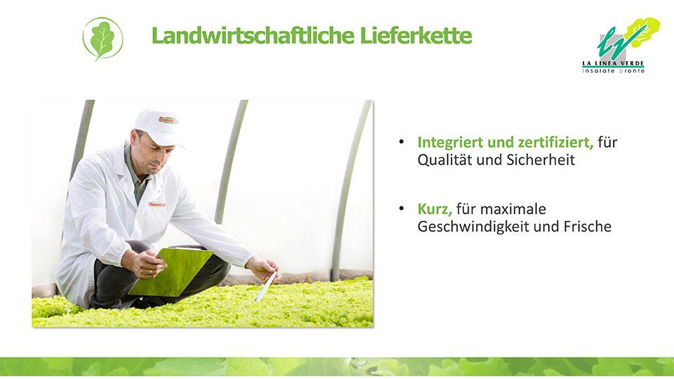 landwirtschaftliche lieferkette La linea verde