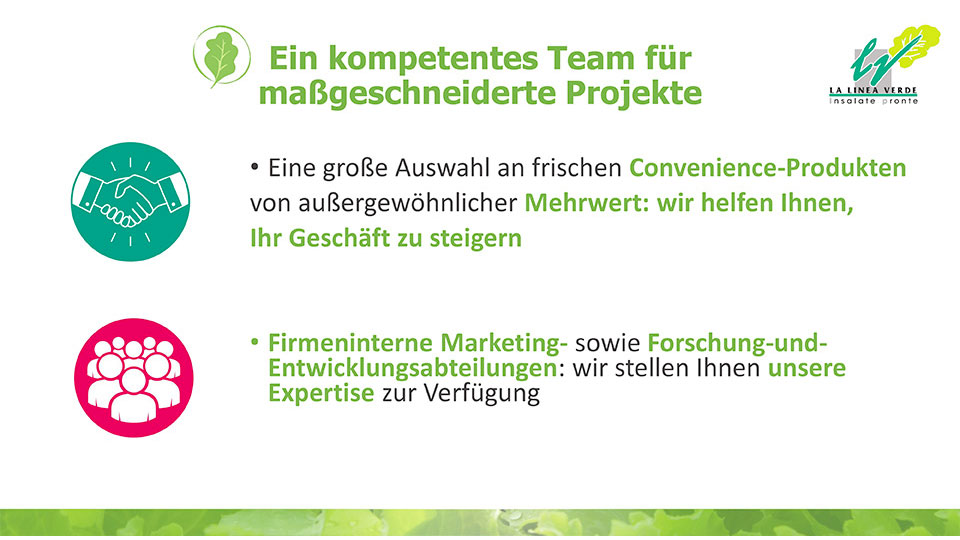 Ein kompetentes Team La linea verde