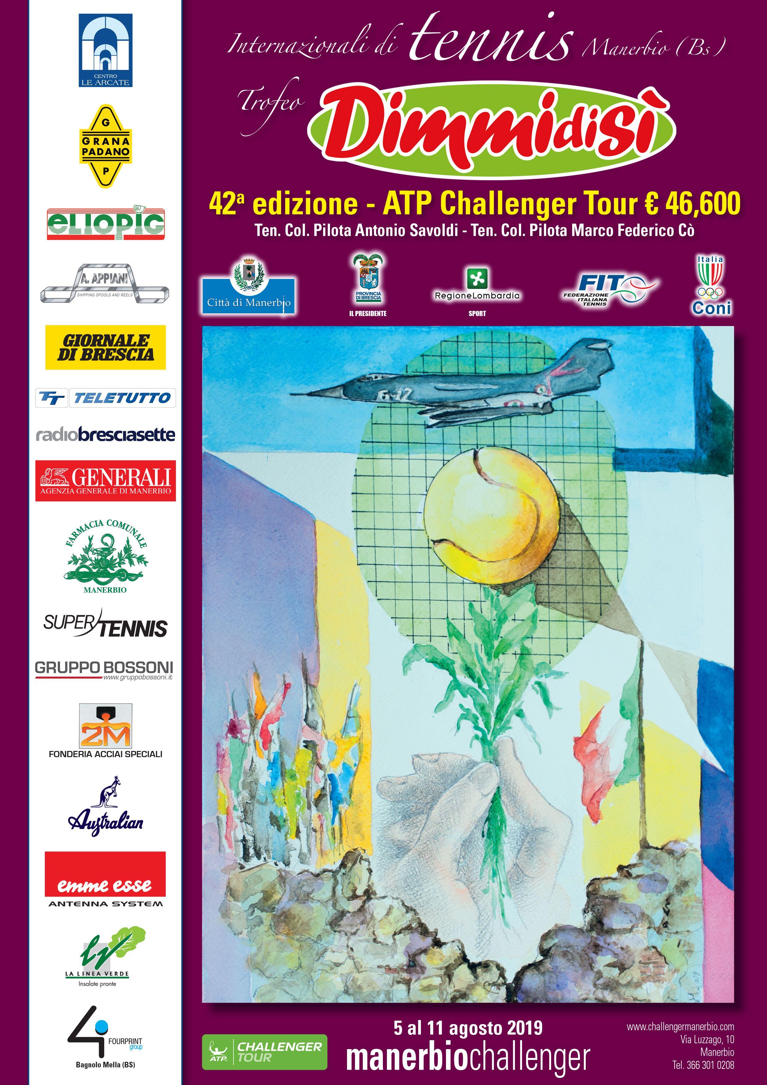 DimmidiSì Main Sponsor del 42° Torneo Internazionale di tennis Challenger ATP da € 46.600