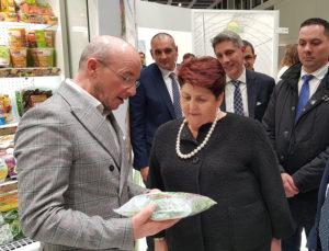 Stand La Linea Verde a Fruitlogistica con la presenza Teresa Bellanova, Ministro Italiano delle politiche agricole